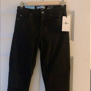 New 7for all mankind black jeans
